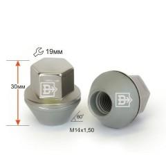 Гайка 342145 Cr M12X1,50 Конус 33 мм, цельная, кл.