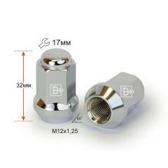 Гайка 311344 Cr D91 M12X1,25 Хром высота 32 мм Кон