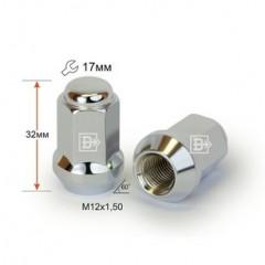 Гайка 311345 Cr D90 M12X1,50 Хром высота 32 мм Кон