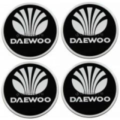 Наклейки на диски DAEWOO 55mm BK 4шт