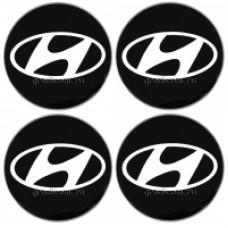 Наклейки на диски HYUNDAI 70mm BK 4шт