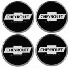 Наклейки на диски CHEVROLET 60mm BK 4шт