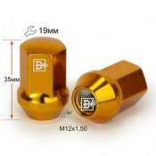 Гайка 801445 GD-Cr M12X1,50 Золото хром высота 35
