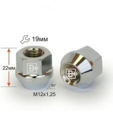 Гайка 400144 Cr D23 Cr M12X1,25 Хром высота 22 мм