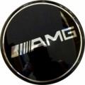 Заглушка на диск AMG D-65mm BK (ориг) 1шт
