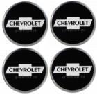Наклейки на диски CHEVROLET 55mm BK 4шт
